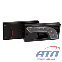 HY-174-4LED Фара дневного света в бампер LED черный, LADA 2110