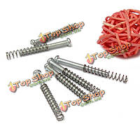 Серебряные винты пружины наборы наборы гитара хамбакер пикап монтаж