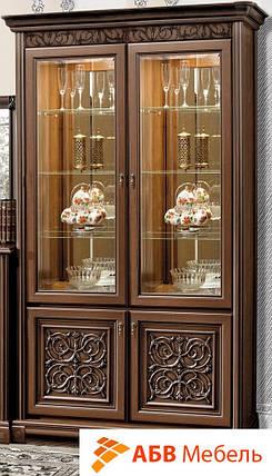 Витрина двухдверная вариант №1 Тоскана орех Караваджо (Скай ТМ), фото 2