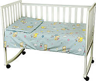 Детский комплект постельного белья для кроватки бязь 60Х120  мишки-пузатики  (932.02)