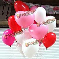 50шт в форме сердца латексные шары праздник оформление баллон