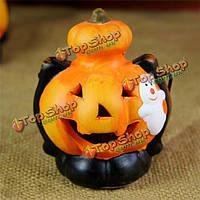 Хэллоуин украшение тыквы LED цвет фары черный кот призрак ведьмы