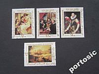 4 марки Мавритания живопись Рубенс