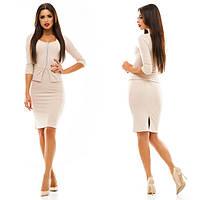 Платье женское короткое в деловом стиле P3688