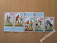 5 марок Руанда 1974 чемпионат мира футбол MNH