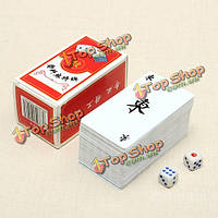 Водонепроницаемый покер маджонг дорожные аксессуары китайский традиционный
