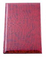 Ежедневник недатированный ECONOMIX А5 CROCO, красный, E21718-03