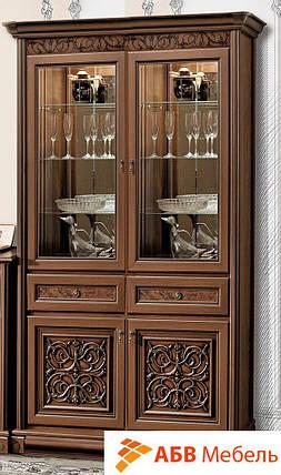 Витрина двухдверная вариант №2 Тоскана орех Караваджо (Скай ТМ), фото 2