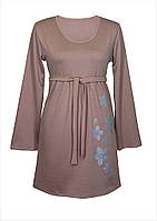Классическое женское платье из трикотажа на весну/осень с оригинальным принтом/рисунком, больших размеров.