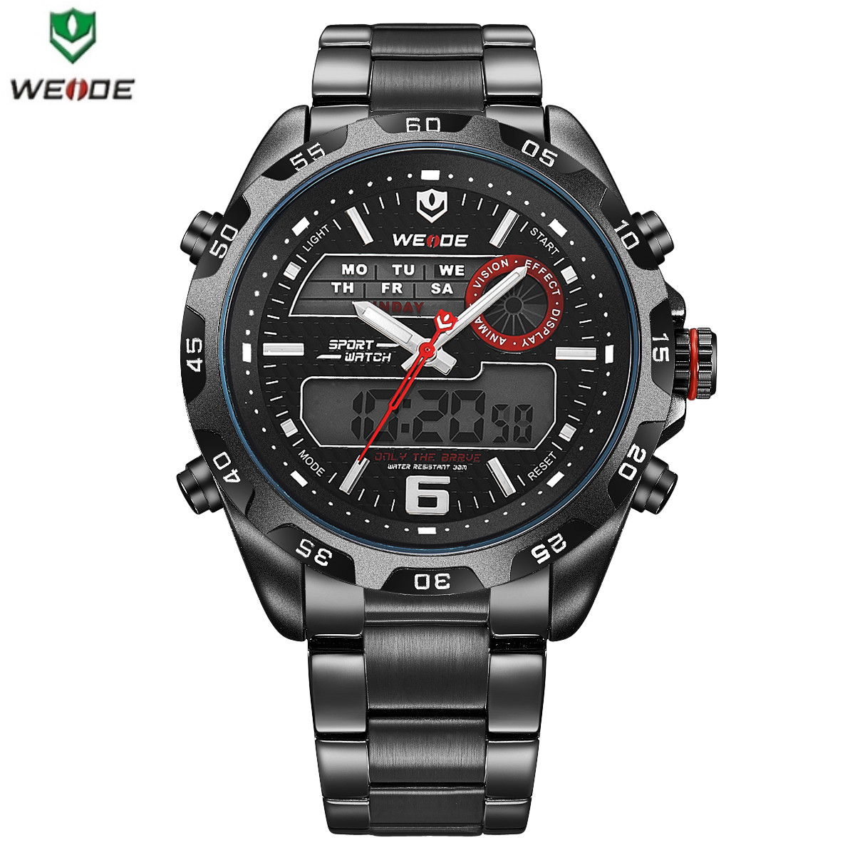 Мужские спортивные часы Weide WH-3403 black