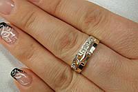 Кольцо из серебра 925 пробы с золотом и камнями
