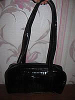 Черная лаковая сумка Viventy