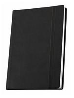 Деловая записная книжка Optima Vivella, А6, мягкая черная обложка на резинке, O20384-01