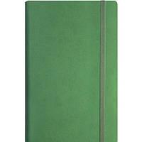 Деловая записная книжка Optima Vivella, А5, мягкая нелинованная зеленая обложка на резинке, O20811-04
