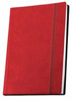 Деловая записная книжка Optima Vivella, А5, мягкая красная обложка на резинке, O27105-03