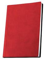 Деловая записная книжка Optima Vivella, А6, мягкая красная обложка, O20383-03