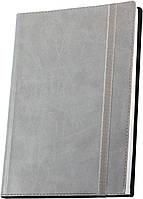 Деловая записная книжка Optima Vivella, А5, мягкая серая обложка на резинке, O27105-10
