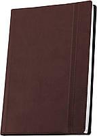Деловая записная книжка Optima Vivella, А6, мягкая коричневая обложка с резинкой, O20384-07