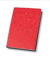 Деловая записная книжка Optima Lady, А5, твердая нелинованная красная обложка, O25263-03