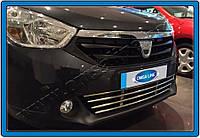 Dacia Lodgy 2013+ гг. Решетка в бампер (нерж)