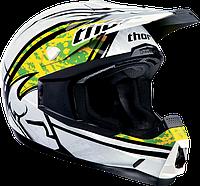 Мотошлем Thor S13 Quadrant Splitter зелёный белый M