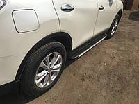 Nissan X-trail T32 2014+ гг. Боковые площадки Maya V1 (2 шт, алюминий)