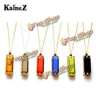 1шт кейн 4 дыры 8 тон ожерелье стиль Mini-губная гармоника ключ с