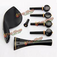 Скрипка 4/4 ebony аксессуары подбородок конец штыря 4 колышки частей