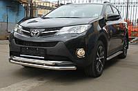 Защита переднего бампера, кенгурятник (двойной ус) Toyota Rav 4 2013+