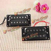Черный хамбакер двойной катушки звукоснимателей электрогитары