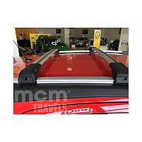 Opel Zafira C Tourer 2011+ гг. Поперечный багажник на интегрированые рейлинги под ключ (2 шт)