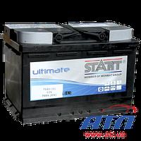 Аккумулятор 6CT-75 А (0) AGM Start Ultimate, правый +, 760А