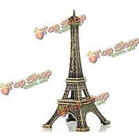 25см Париж Эйфелева башня модель из состаренной винтажной сплава украшения