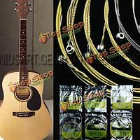 Набор из 6 стальных струн для акустической гитары 150xl 1м