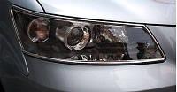 Hyundai Sonata NF 2004-2009 гг. Накладки на фары (2 шт, пласт)