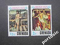 2 марки Гренада 1975 Пасха иконы MNH