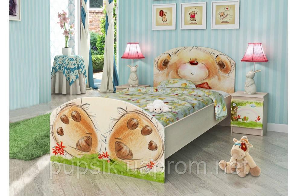 """Кровать подростковая Вальтер """"Мишка с букетом"""" (2 размера)"""
