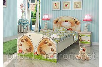 """Кровать подростковая Вальтер """"Мишка с букетом"""" (3 размера)"""