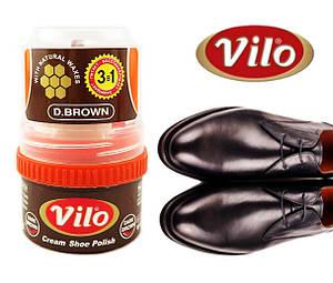 Крем для обуви Vilo 50 мл коричневый