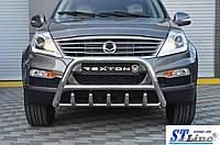 SsangYong Rexton II 2008+ и 2013+ гг. Кенгурятник WT003 (нерж)