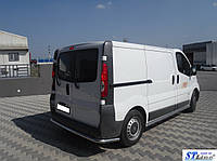 Opel Vivaro 2001-2015 гг. Задняя защита AK005 (нерж)
