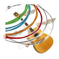 6 радуги красочные цвета строки  установленные для акустической гитары 1м