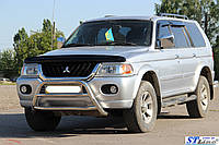 Mitsubishi Pajero Sport 1996-2007 гг. Кенгурятник WT022 (нерж)