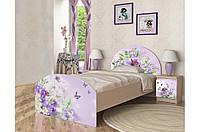 """Кровать подростковая Вальтер """"Природа"""" №3 (3 размера)"""