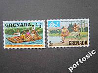 2 марки Гренада спорт туризм MNH