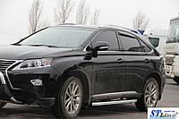 Lexus RX 2009-2015 гг. Боковые пороги Fullmond (2 шт, алюминий)