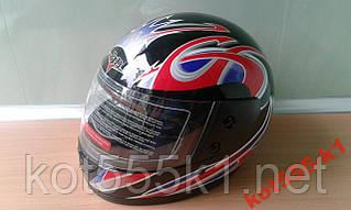 Шлем Мото Новый (красно-черный)