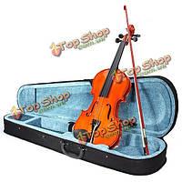 Глянцевый ручной работы ели играет скрипка 4/4 со смычком случае