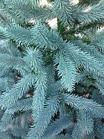 ЕЛЬ искусственная  литая высота 2,1м праздничная голубая и зеленая