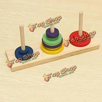 Деревянная башня ханоя развивающие игрушки для детей логические игрушки